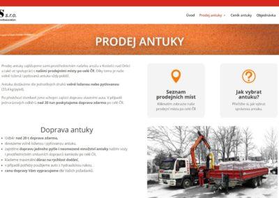 Tvorba webových stránek antuka.com