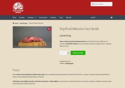 Tvorba e-shopu pro Chlenské maso