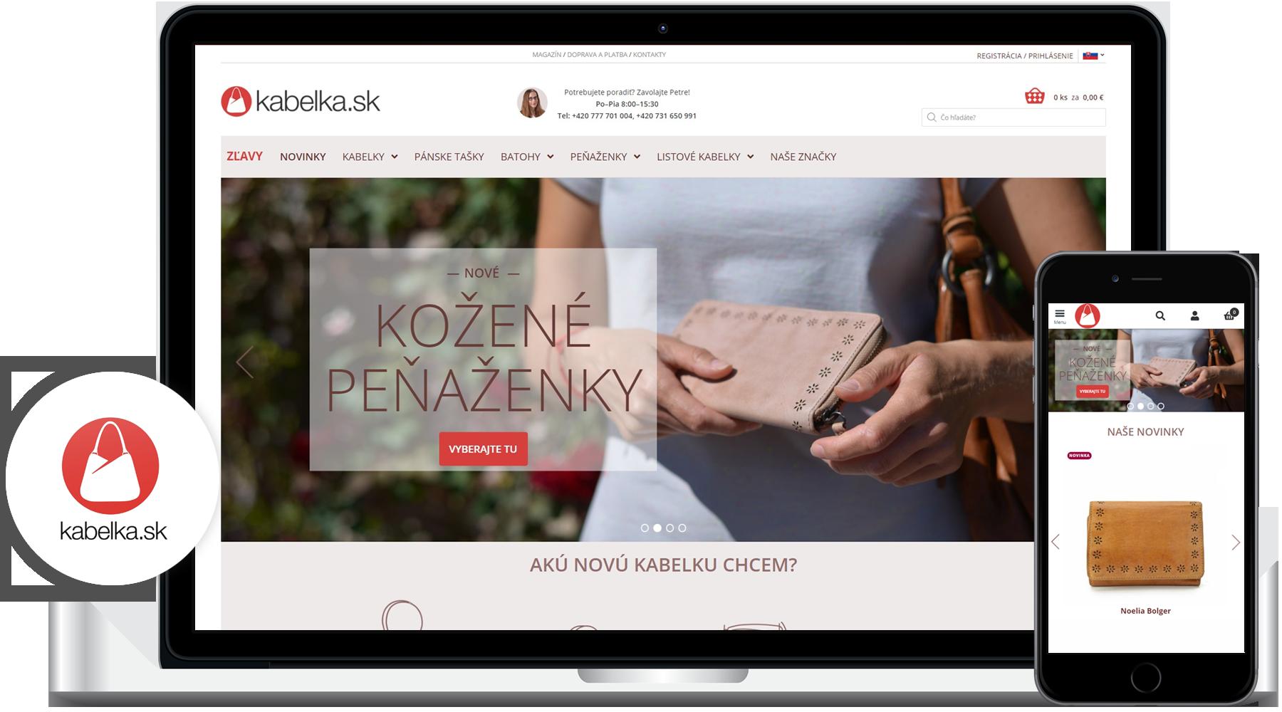 Tvorba e-shopu kabelka.sk
