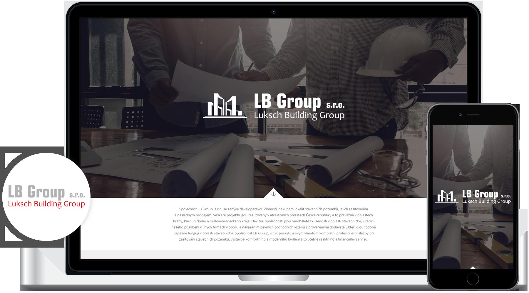 Tvorba webových stránek lbgroup.cz