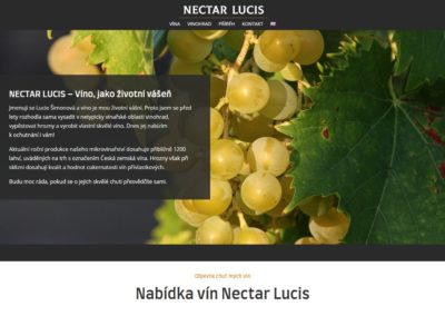 Tvorba webových stránek nectarlucis.cz