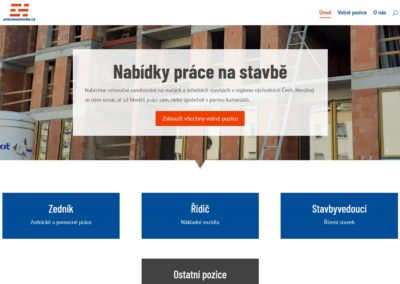 Tvorba webových stránek pracenastavbe.cz