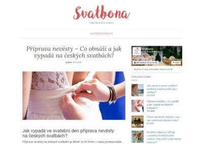Tvorba webových stránek svatbona.cz