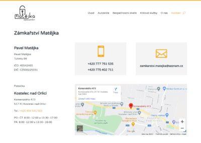 Tvorba webových stránek klice-matejka.cz