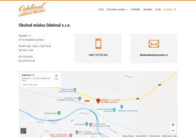 Tvorba webových stránek modaodehnal.cz