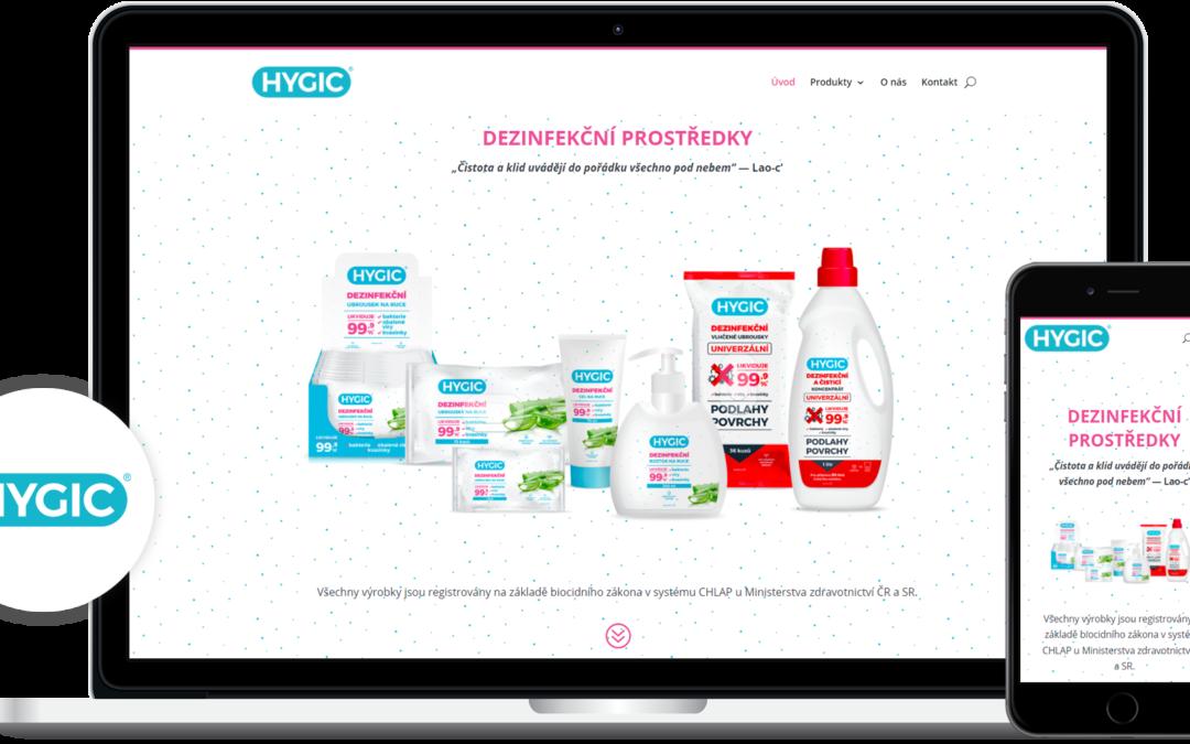 Tvorba webových stránek hygic.cz